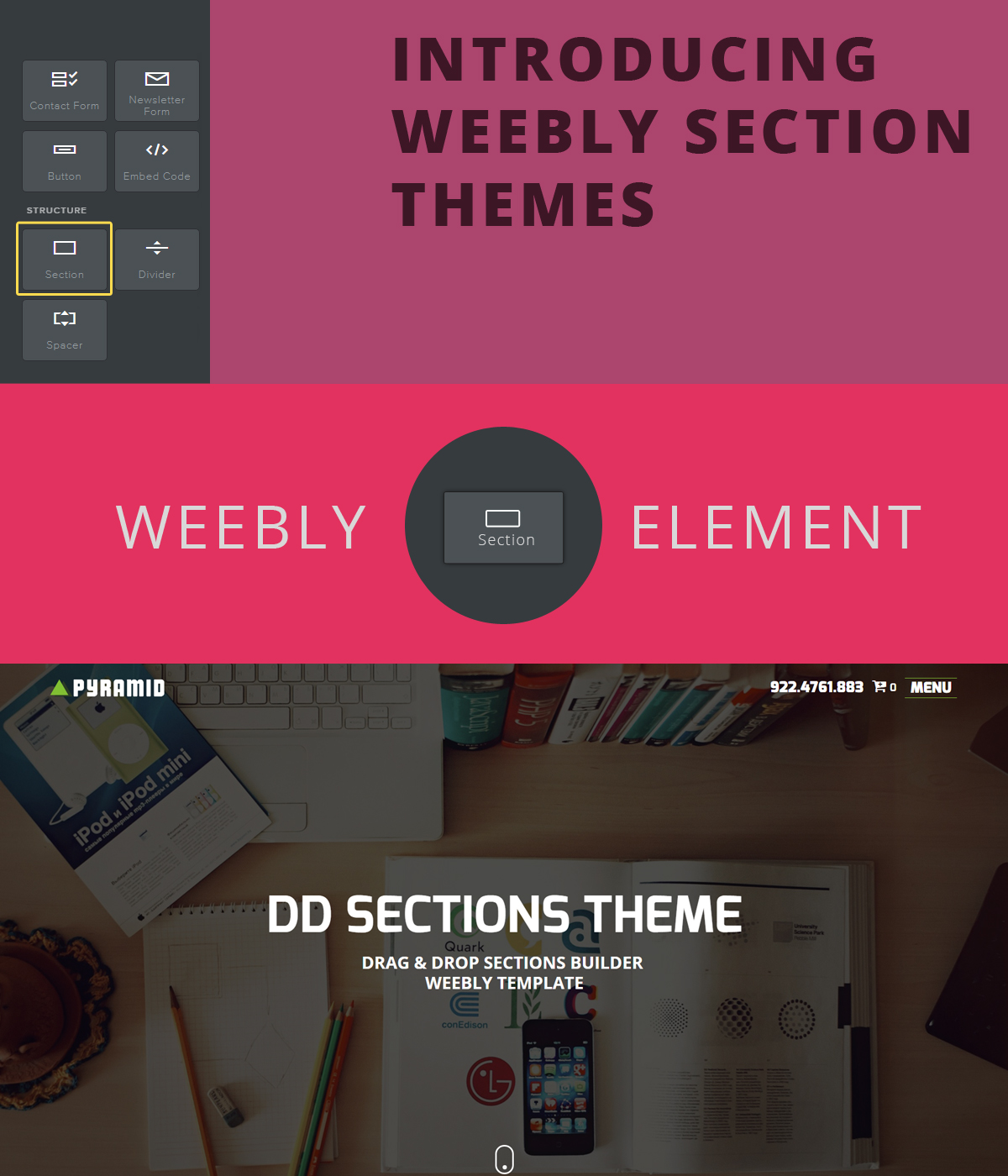 weebly sections element supported templates post image