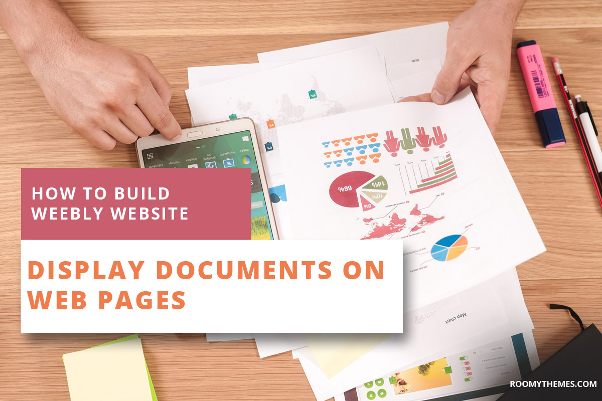 how to build weebly website - display documents on pages