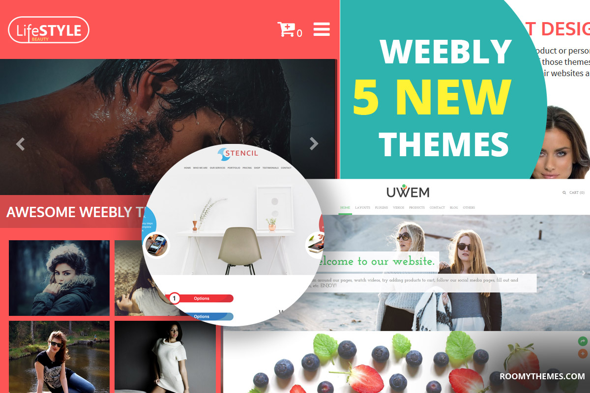 5 new weebly themes to download