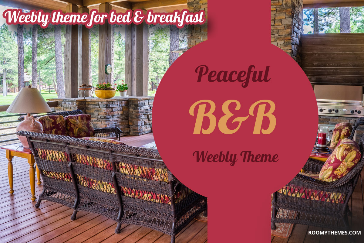 bed and breakfast weebly template