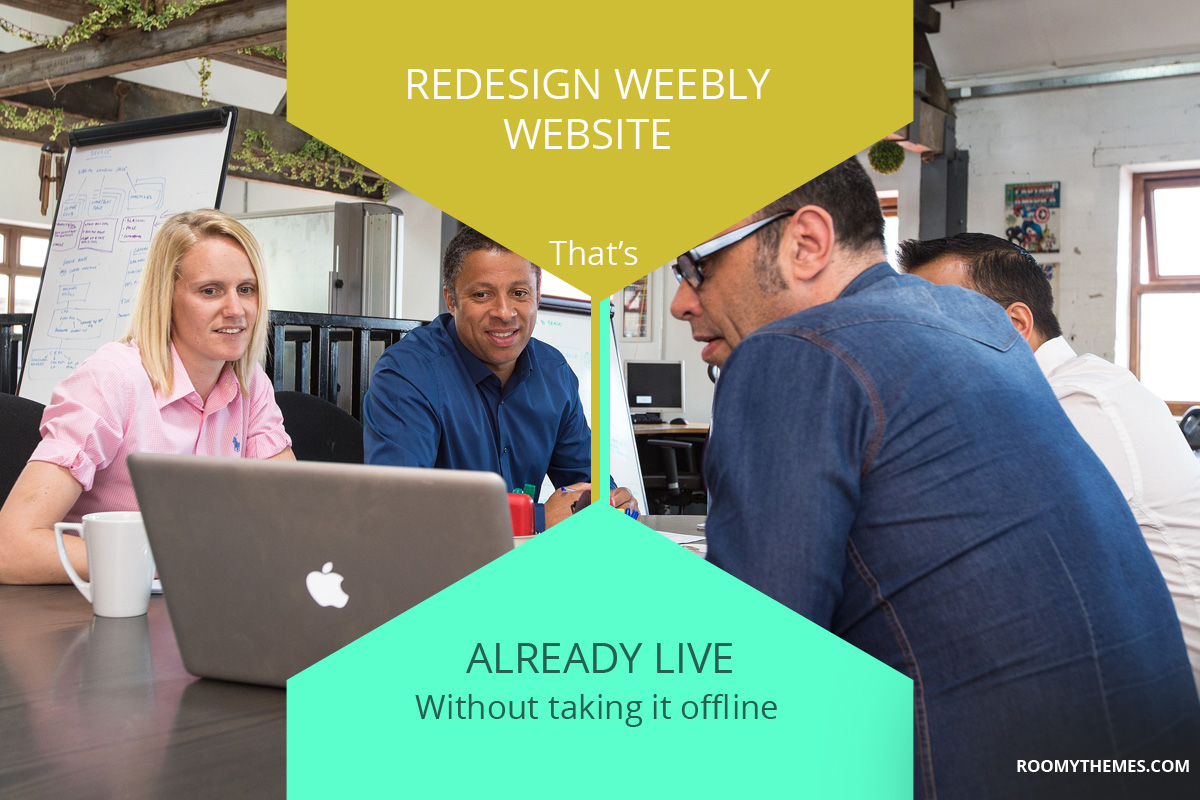 how to redesign weebly website that is already live