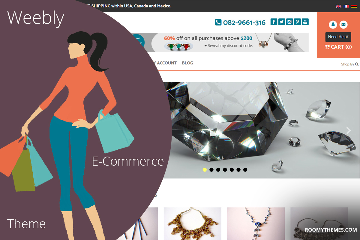 Onsale theme version 1.3 - weebly e-commerce theme by roomy themes
