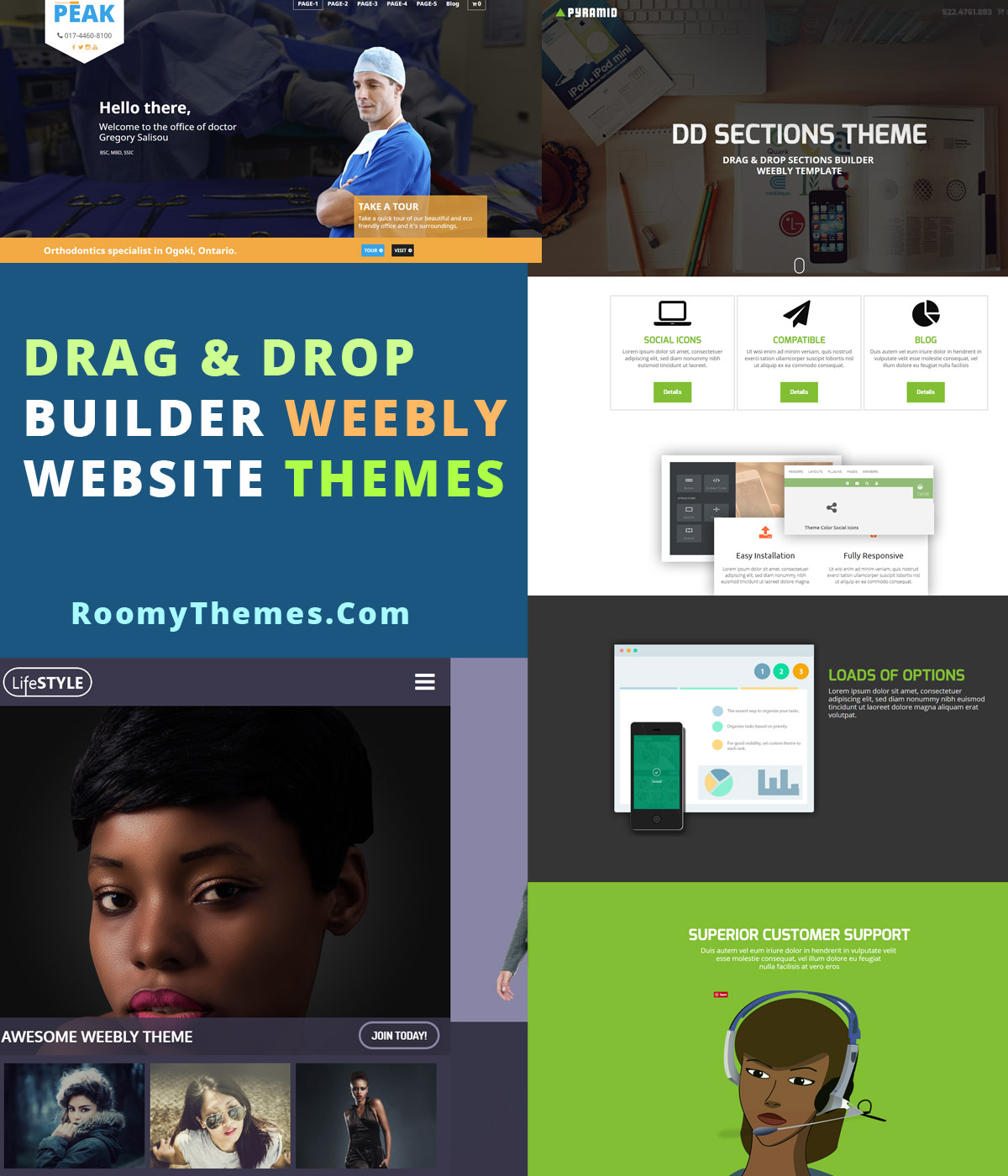 Easy weebly themes the most easy to use weebly templates for Weebly drag and drop templates