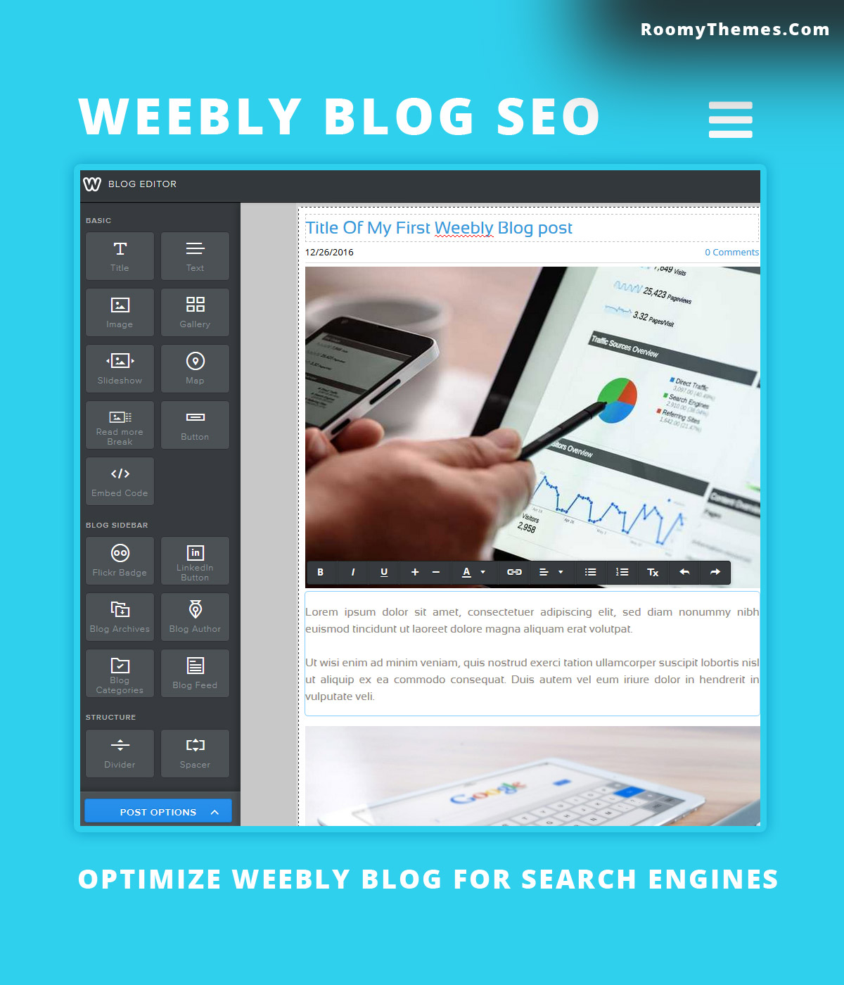 Weebly SEO - Weebly Pages And Blog Post For Search Engines - Roomy