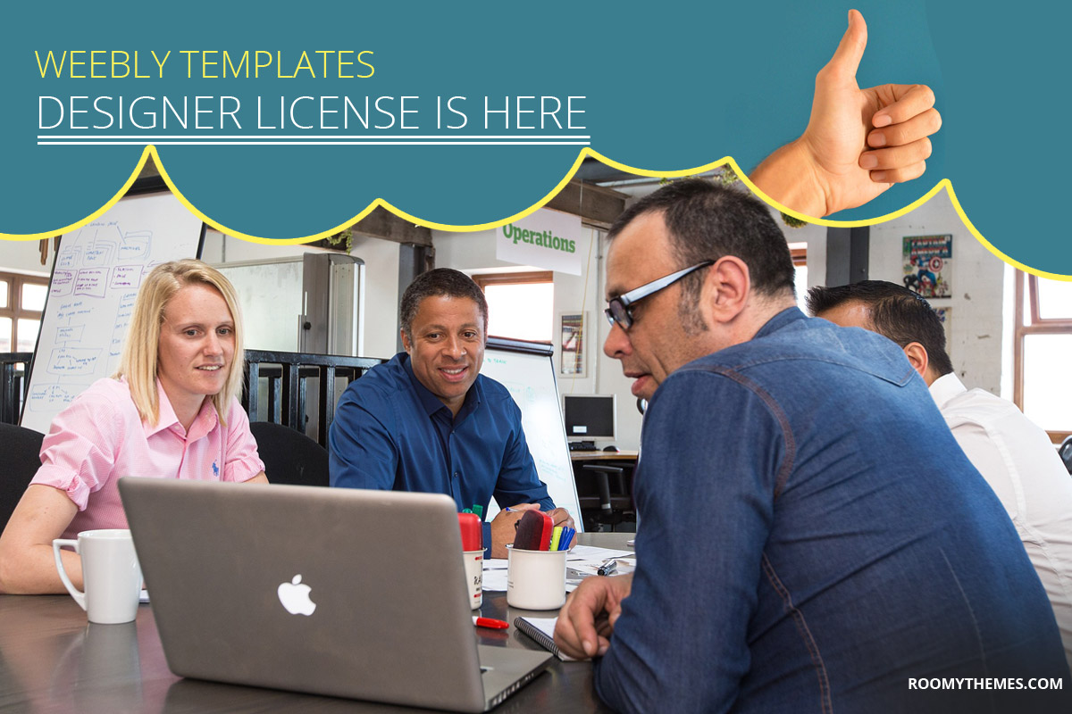 Weebly templates designer license