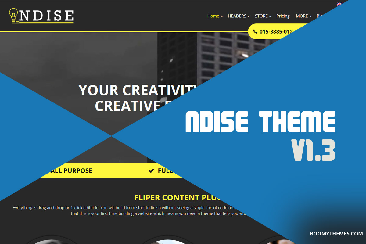 Ndise weebly template upgrade version 1.3